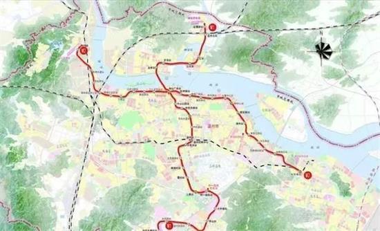 温州地铁M1、M2站点线路图曝光